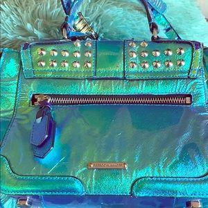 Rebecca Minkoff Metallic Blue Studded Purse